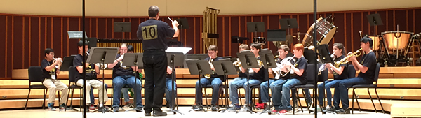 middle school trumpet ensemble