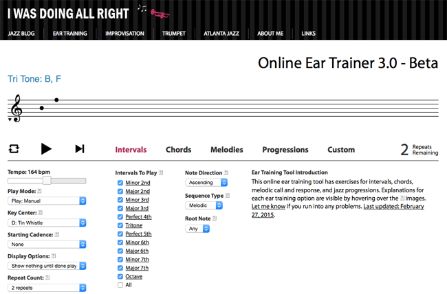 online ear trainer - v3
