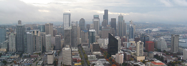 seattle from the space needle